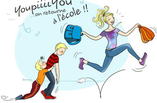 Illustration amiet - le retour à l'école