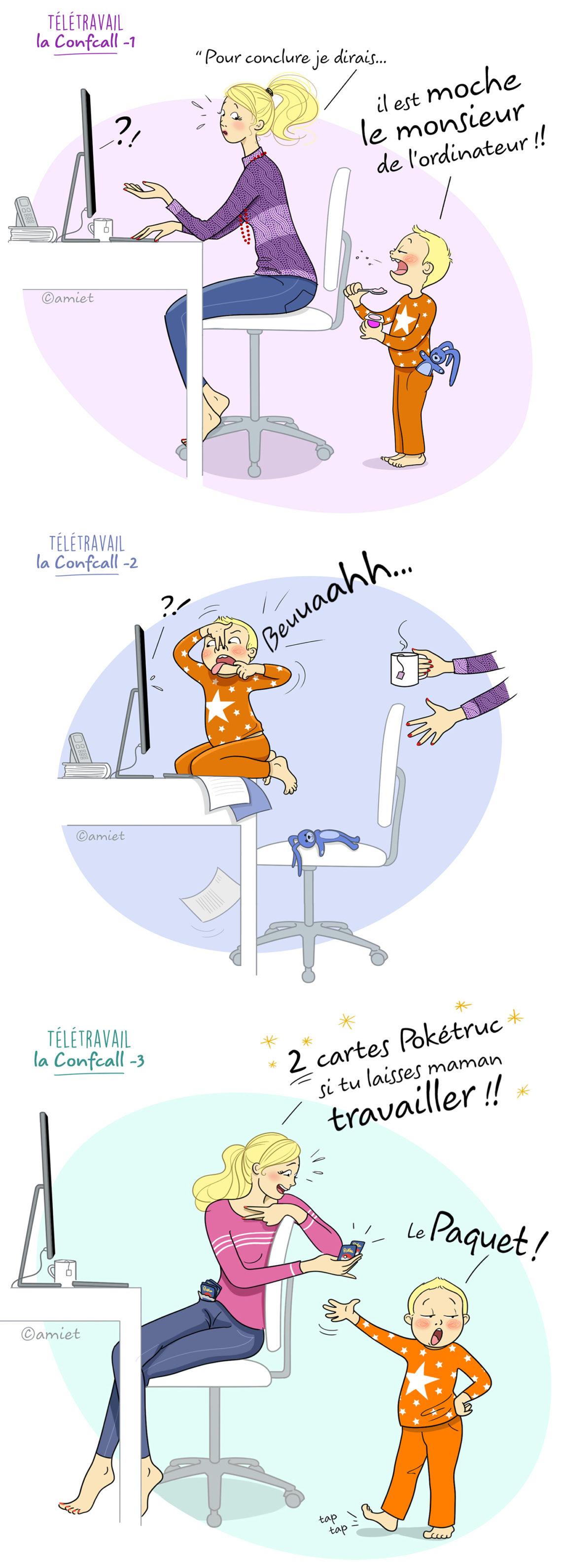illustration télétravail